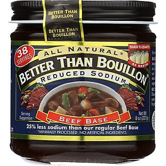 Bättre än buljong base beef rdcd natrium, fall av 6 X 8 oz
