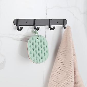 الحمام المناشف الجدار الشماعات لكمة خالية من رف التخزين