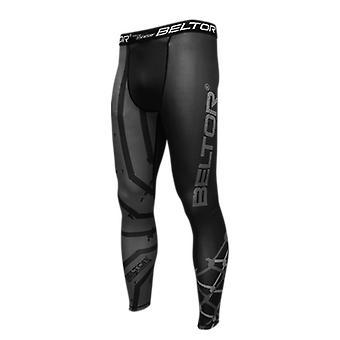 Sportbroek Grappler - Zwart Grijs - Maat L - Heren legging