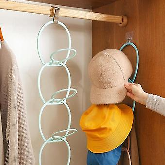 6pcs justerbar arrangør bakdør hengende baseball cap lue håndkle belte oppbevaringsholder (bule)