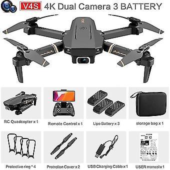V4 Rc drone 4k HD ευρείας γωνίας κάμερα 1080p Wifi διπλή κάμερα quadcopter σε πραγματικό χρόνο μετάδοση