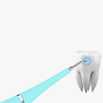 Elektrische ultrasone sonic whitening care tool tand vlekken tandsteen tool verwijderen| Tanden bleken (groen)