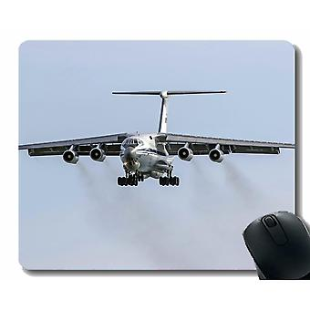 (300X250X3) Almohadilla de ratón con borde cosido, Ilyushin Il 76 Avión de transporte portátil Almohadilla de ratón Gaming