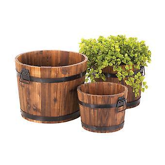 Summerfield Terrasse Rustik Barrel Planter Sæt, Pakke med 1