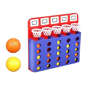 1 Set Bouncing Linking Shoting Game Four Line Jump Ball Party Board Game Children Finger