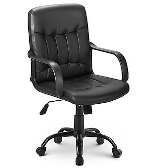Faux Leather High Back Desk Swivel Chair For Home Office Task