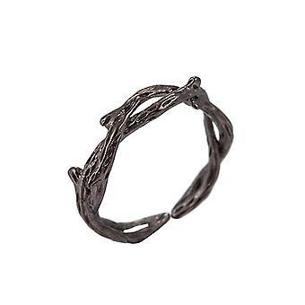 Minimalistisch verstellbarer Silberschmuck geometrische Ringe für Frauen (Syjz108)