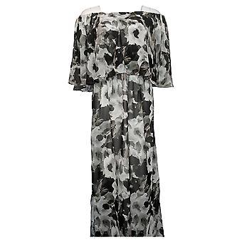 Colleen Lopez Dress Off-the-Shoulder Flutter Black 694167