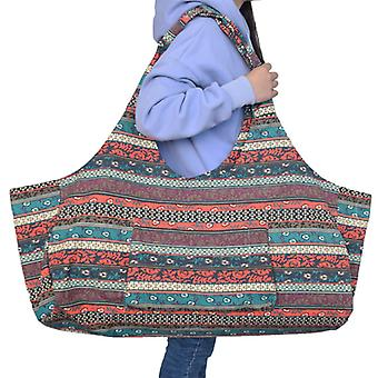Evago Evago For Utenfor Sport Yoga Mat Bag Stor Yoga Mat Tote Sling Carrier Med Lommer Passer Matter Med Multi-funksjonelle Oppbevaring Lommer Lys Og D