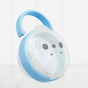Bärbar baby napphållare låda nippel tecknad spjälsäng Barn Rese förvaringslåda Pacifie Holder Pacifie Tillbehör