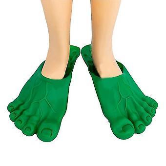 Sofirn Cosplay Hulk Green Giant Feet Bigfoot Slippers,halloween Props