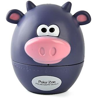 Cute Cartoon Cow Or Bear Timers 60 Minutes Mechanical Kitchen Cooking Timer Clock Loud Alarm Counters Mini Size Manual Timer (blue Cow)