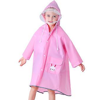 Kinder Regenmantel Süße Student Outdoor Reisen Bergsteigen Poncho110cm-150cm-rosa