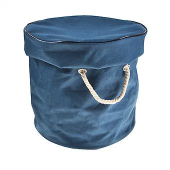 Faltbare Aufbewahrungstasche für Kinder spielzeug (marineblau Groß)