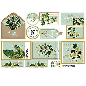 Green Plant Frame Wall Stickers Bedroom Mural (dimensioni: 100cm X 65cm)