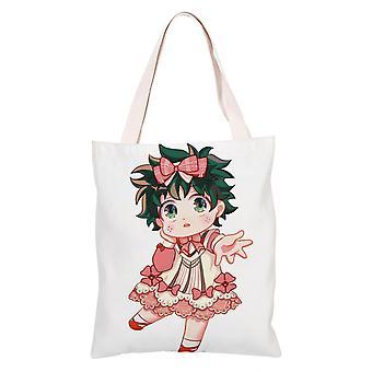 الكرتون أنيمي قماش حقيبة التسوق Totes، بلدي بطل الأوساط الأكاديمية #35