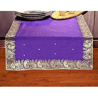 Purple - Hand Crafted Table Runner (Inde)