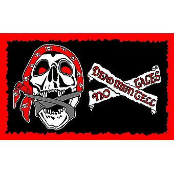 5ft x 3ft Flag - Pirate - Dead men tell no tales
