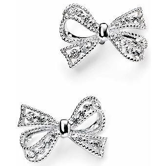 925 Silver Butterfly Knot Earring