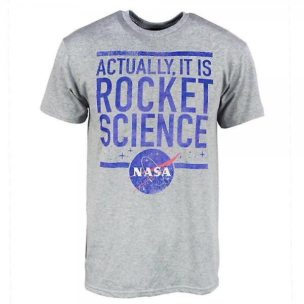 La NASA Mens NASA Rocket Science T-Shirt gris chiné