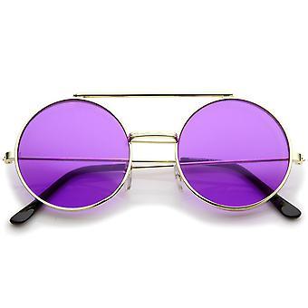 Milieu taille modulable couleur lentille ronde Django lunettes de soleil 49mm