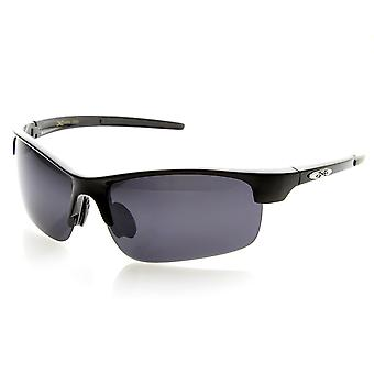 X-Loop Brand Eyewear Semi-Rimless Half Frame Cycling Sports Wrap Sunglasses