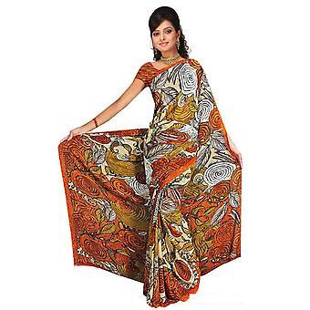 Diya Georgette gedruckt Casual Sari Sari Bauchtanz Stoff