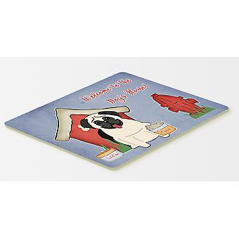 犬ハウス コレクション パグ クリーム キッチンやお風呂マット 20 x 30