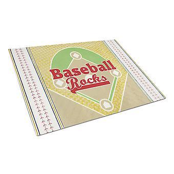Carolines Treasures  SB3077LCB Baseball Rules Glass Cutting Board Large Size