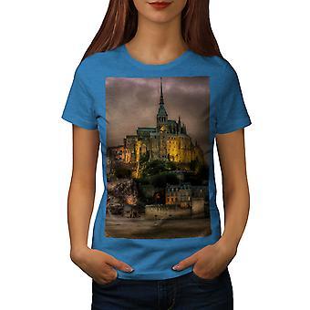 France Castle Fashion Women Royal BlueT-shirt | Wellcoda