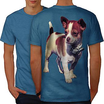 Puppy Cute Pup Animal Men Royal BlueT-shirt Back | Wellcoda