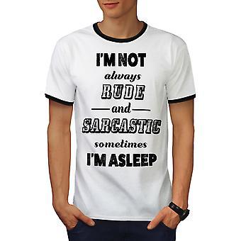 Nicht unhöflich Männer weiß / BlackRinger-t-Shirt | Wellcoda