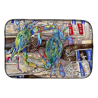 Blue Crabby Bottles of Barqs Rootbeer Dish Drying Mat