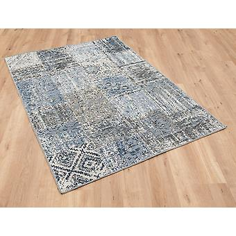 Amalfi 0010 5001 blauwe rechthoek tapijten moderne tapijten