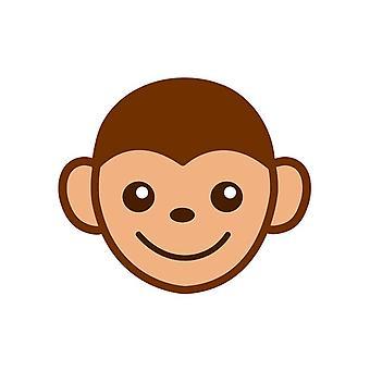 Apina sarjakuva Emoji ikään