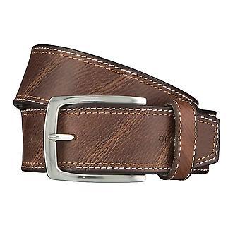 OTTO KERN belts men's belts leather belt Mocha/Brown 4499