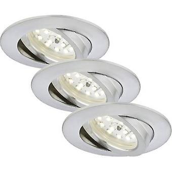 Briloner 7232-039 LED inbouw licht 3-delige set 16,5 W Warm wit Aluminium