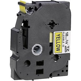 Labelling tape (flexible) Brother TZe-FX, TZ-FX TZe-FX641 Tape colour: Yellow Font colour:Black 18 mm 8 m