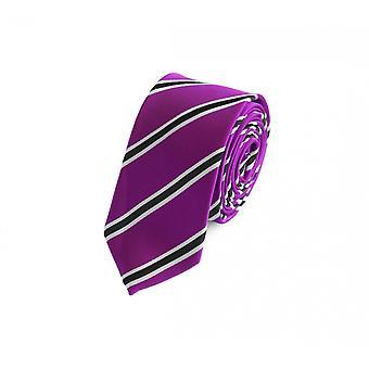 Schlips Krawatte Krawatten Binder 6cm pink schwarz weiß gestreift Fabio Farini
