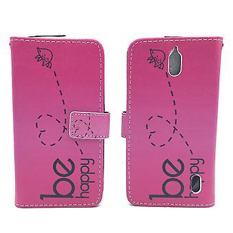 Mobile phone case pochette pour mobile Huawei Y625 être heureux rose