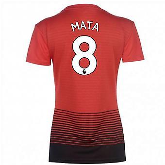 2018-2019 مان يونايتد أديداس النسائية الرئيسية قميص (ماتا 8)