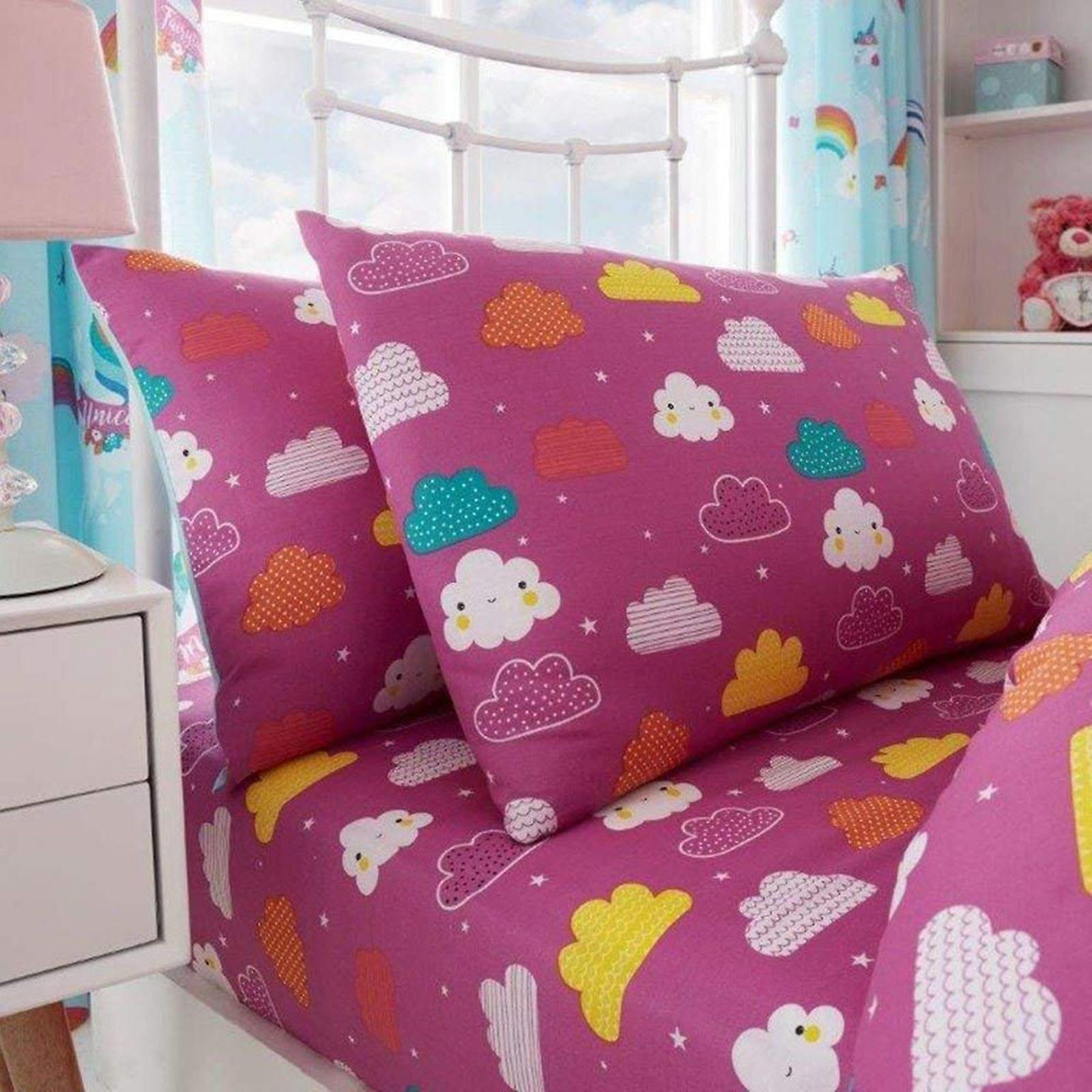 Unicorn Fairy Tale Single Fitted Sheet And Pillowcase Set