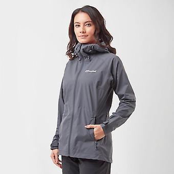 Nieuwe Berghaus Women's stormcloud Windchill Walking full zip jas donkergrijs