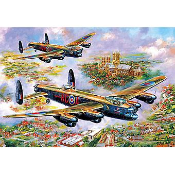 Gibsons Lancasters Over Lincoln Jigsaw Puzzle (500 pieces)