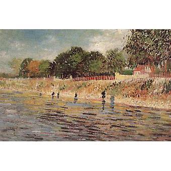 De oevers van de Seine, Vincent van Gogh, 32x46cm