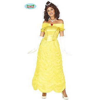 Princesa vestido amarelo bola princesa vestido, traje