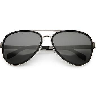 Métal des femmes d'armes Aviator lunettes de soleil polarisées Lens 57mm