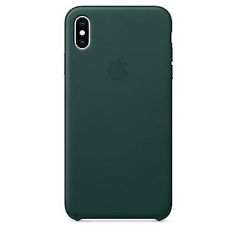 Apple iPhone XS Max funda de cuero-bosque verde