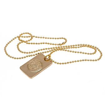 Leicester City FC Gold Plated Dog Tag And Chain