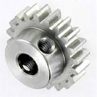 Reely Steel kugghjuls modultyp: 1,0 håldiameter: 6 mm Nej. av tänder: 20